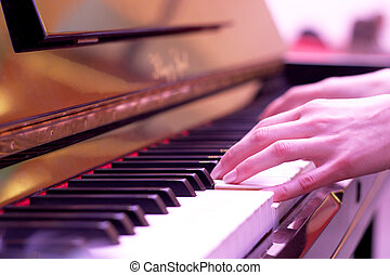 Piano playing - Hands playing the piano