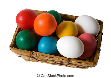 Easter Egg Basket - Easter Basket with Real & Toy Colored...