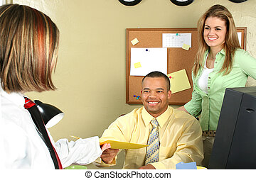 Business Office - Handsome African American business man...