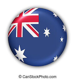 Australia Flag - World Flag Button Series - Oceania -...