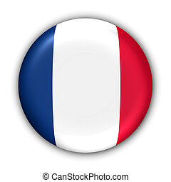 France Flag - World Flag Button Series - Europe - France...