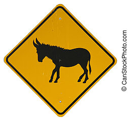 Donkey Crossing sign