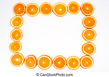 Sliced orange frame