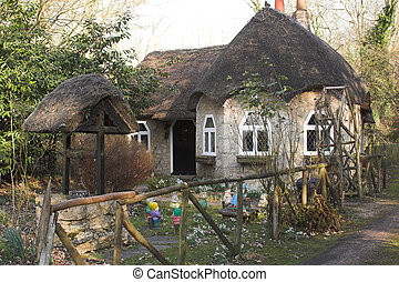 Fairytale cottage - Fairytale thatched cottage in spring