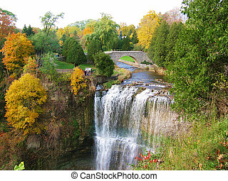 Webster Falls in the fall