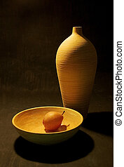 Light and Shadow - Still life with pear