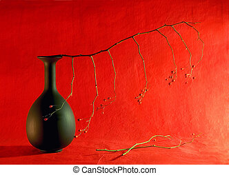 Carmen - Elegant still life with branch and wild berries
