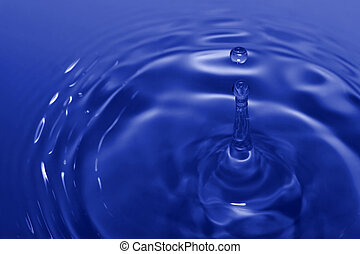 drop and ripples - Blue drop and ripples