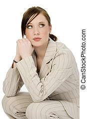 Young Business Woman - Beautiful young business woman in...
