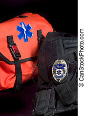 Medical bag and vest - EMT medical bag with Life Star ,...