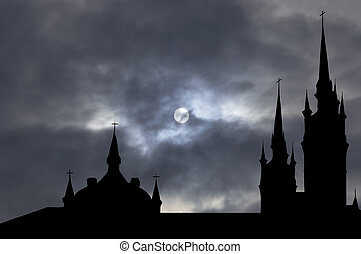 Catholic church with clipping path - Catholic church