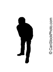 Business man - silhouette of business man
