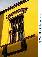 window - yellow window