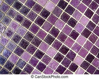 紫色, 馬賽克