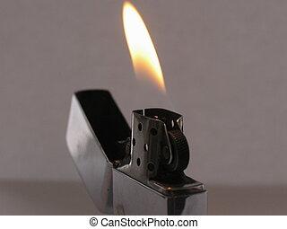 pocket lighter filled with fuel