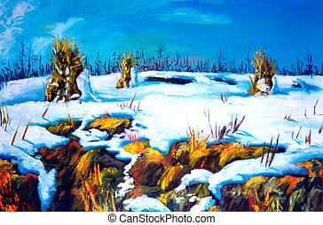 Winter scene - Mountains winter scene - i am author of this...