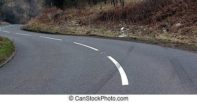 Car skid crash - car crash scene