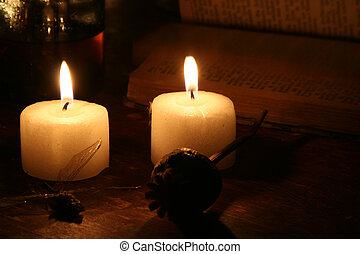 Candels in the Dark - Candles in the dark - a mystical scene