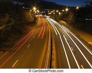 Light smears on road - Light smears on dual carriageway