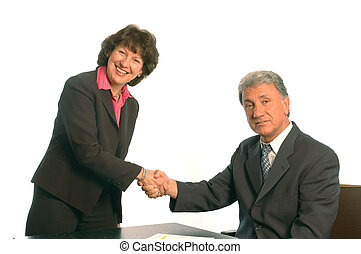 handshake - shaking hands at the office