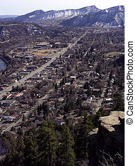 Mountain Town - The town of Durango, Colorado from above