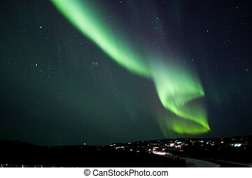 Dollar in the sky - Auroral display in the shape of S...