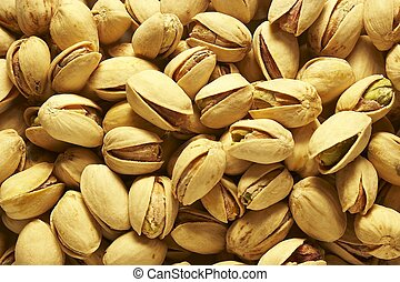 Pistachio nuts macro close-up