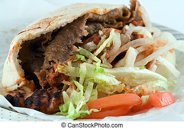 Donner Kebab - GreekTurkish food adapted to become a...