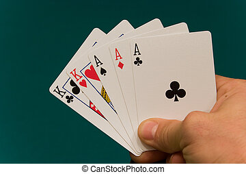 cards with hand 06 poker full house