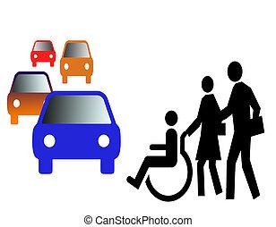 On street - Invalid man on street