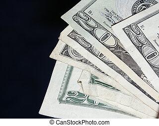 US Bills - A bunch of US $20 bills