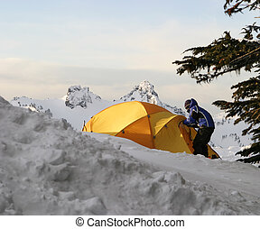 Tent and Boy