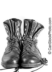 Army Boots2 - army boots isolated on white