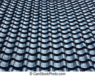 tiled roof - Pattern of black tiled roof