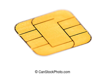 Sim card macro over white