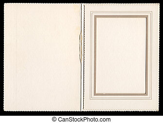 Vintage Frame o4 - Antique card picture frame with blank...