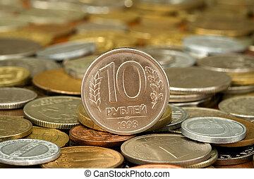 Dinheiro, 007, moeda, ruble