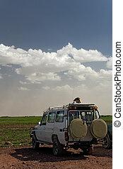 transportation 005 safari vehicle plus lanscape