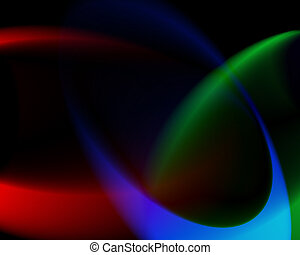 color mix - dark background with RGB light