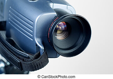 Video camera lens 1 - Video camera lens pointing to the...