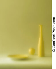Yellow Morning - Still life with apple (taken with diffuse...