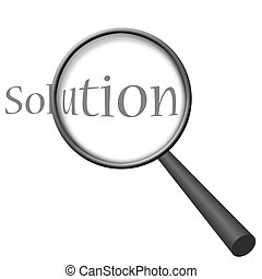Finding Solution Magnifying Glass Series