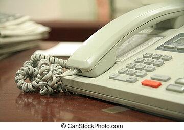 escritório, telefone