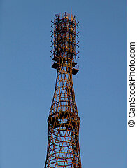 Radio tower - Shukhov tower in Moscow, now used by radio...