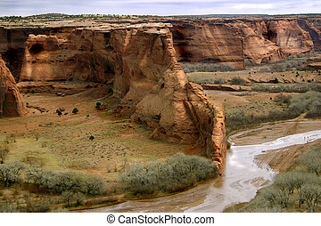 Canyon de Chelly - The ancient canyon was once home to the...