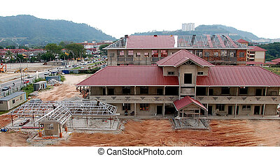 Contruction of School - school under construction in Kuala...