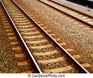 Railroad Tracks - Brown Railroad Tracks