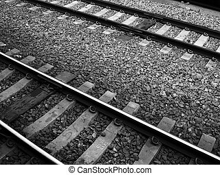 Old Rairoad Tracks - Old Black and White Railroad Tracks
