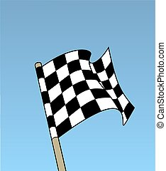 Check Flag - Illustrated chequered flag