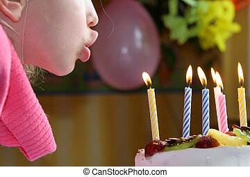 Happy birthday - Blowing birthday candles